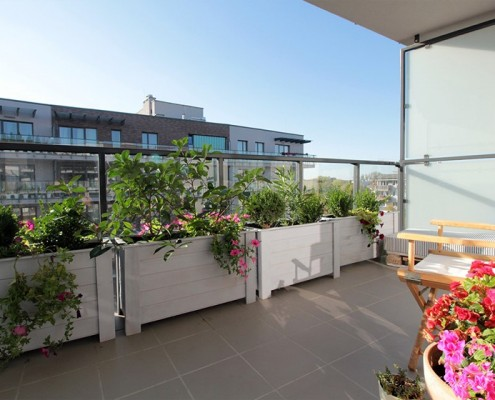 Wystrój nowoczesnego balkonu