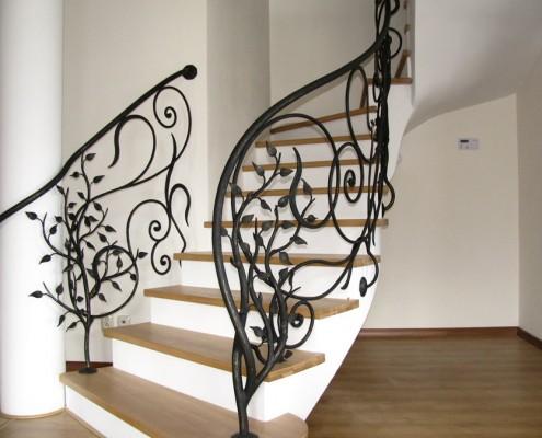 Artystyczne balustrady z kutego żelaza Alab kowalstwo