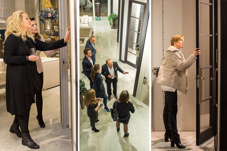 Polscy architekci wnętrz na kolacji w salonie Wirchomski