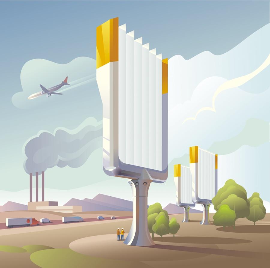 czyste powietrze w miastach możliwe dzięki wynalazkowi profesora Klausa Lacknera