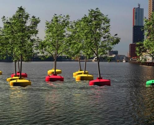 ekologiczne miasta - Pływający Las, Rotterdam