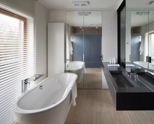 Granitowa umywalka w nowoczesnej łazience Exitdesign
