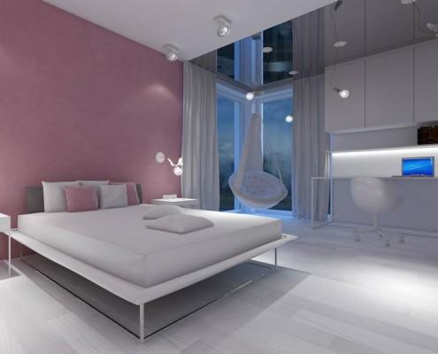 Jasny pokój dla nastolatki Concept Wnętrza