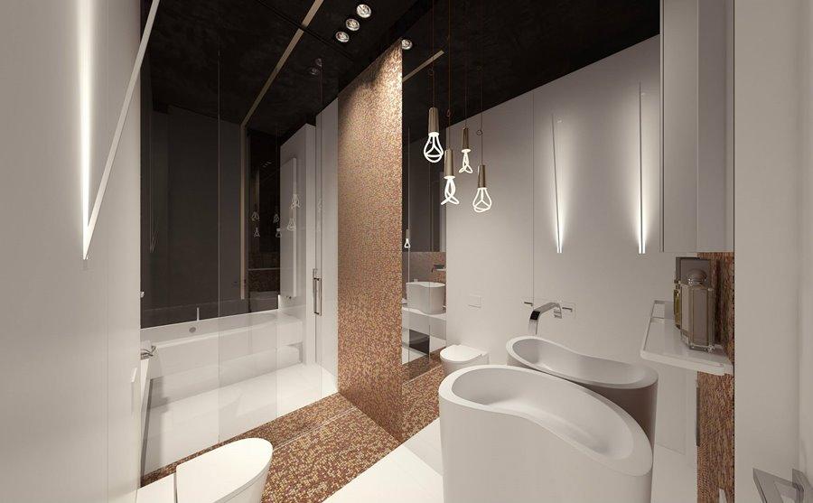 Miedziana Mozaika W łazience Inspiracja Homesquare