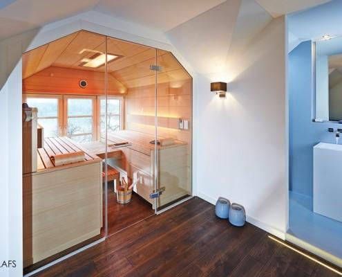 Nowoczesna sauna na poddaszu Klafs