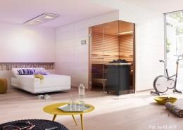 Pokój wypoczynkowy z sauną Klafs