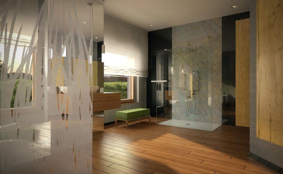Przestronna łazienka w nowoczesnym wydaniu Concept
