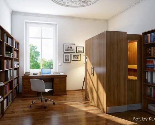 Segmentowa sauna w gabinecie Klafs