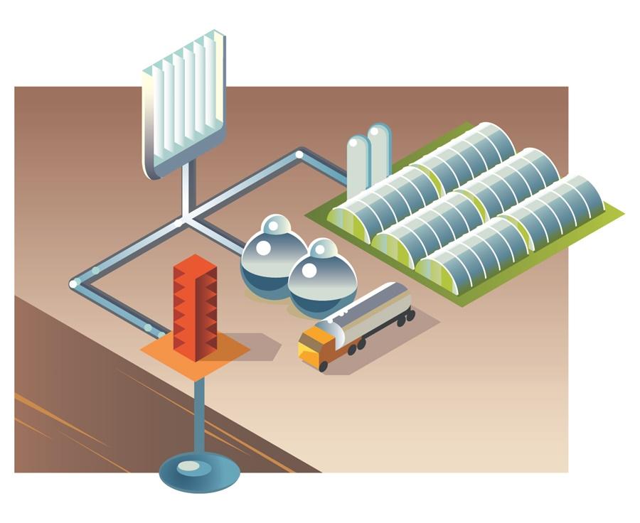 wyizolowany z zanieczyszczonej atmosfery CO2 można wykorzystywać ponownie, np. zasilając nim szklarnie