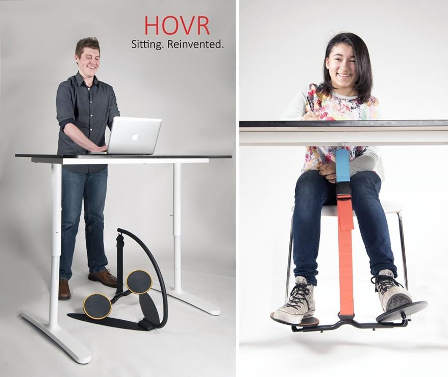 Siedzący tryb pracy odmieni nietypowe biurko HOVR