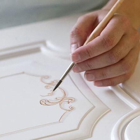 Design Porte ręcznie zdobione meble z Włoch