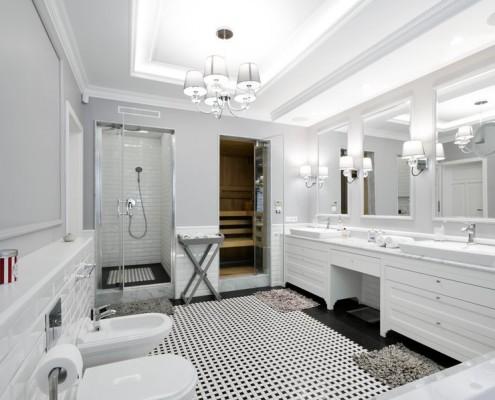 Duża łazienka dla dwojga - styl klasyczny 3deko