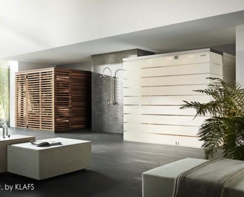 Dwie sauny w domowym SPA Klafs
