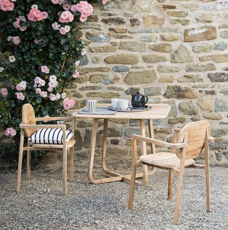 Kwadratowy stół ogrodowy składany Pebbles