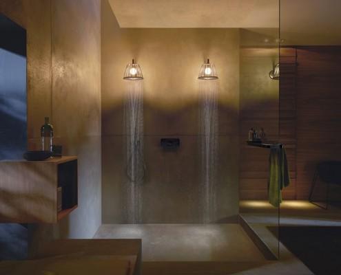 Podwójna deszczownica pod prysznicem Axor Hansgrohe