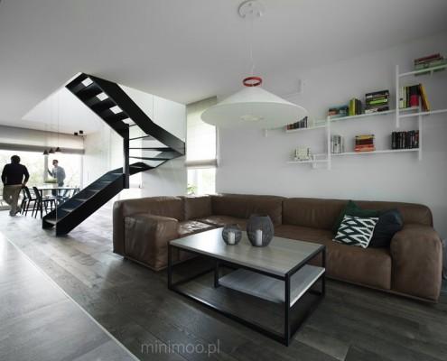 Pokój dzienny w stylu minimalistycznym Minimoo