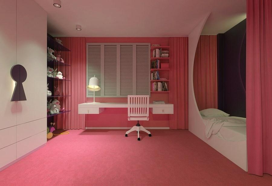 Różowe pokoje dla dziewczynek