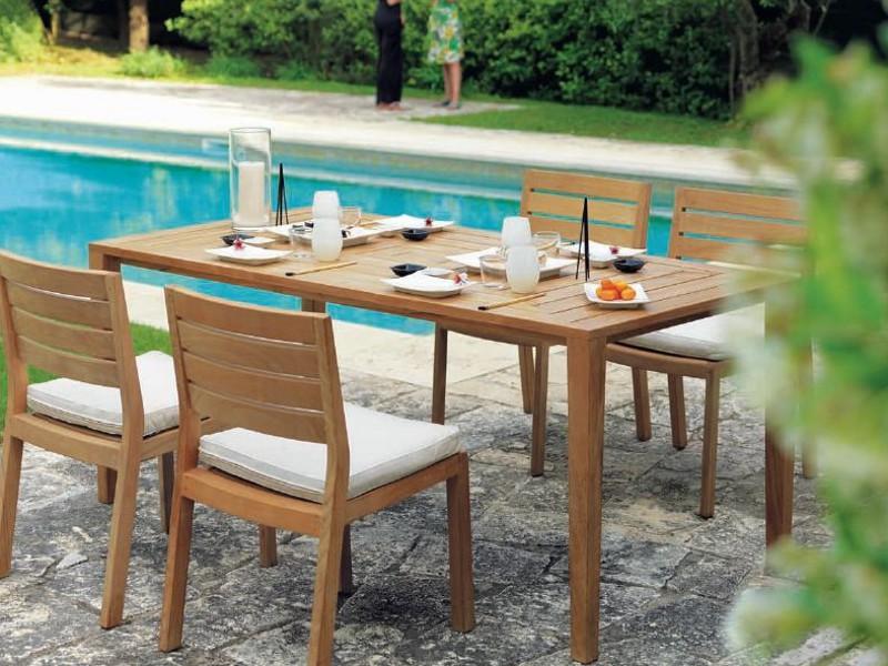 Prostokątny stół w ogrodzie z drewna Friends