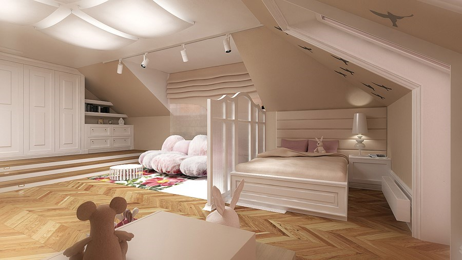 Piękne pokoje dla dziewczynek