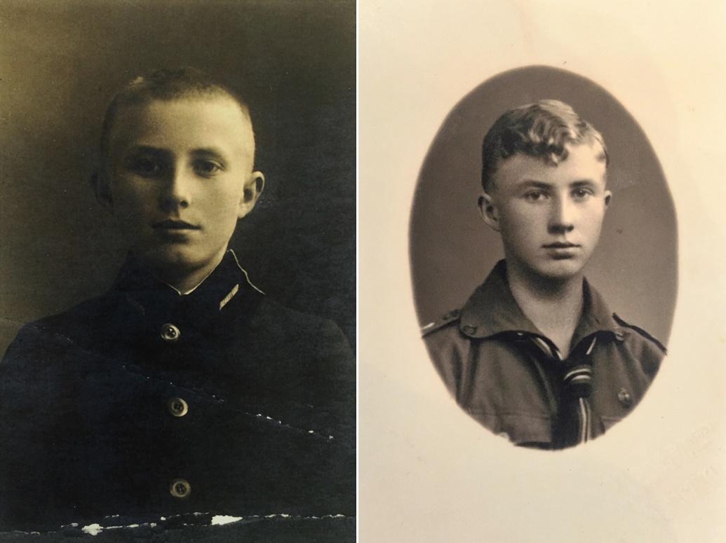 Roman Modzelewski w dzieciństwie