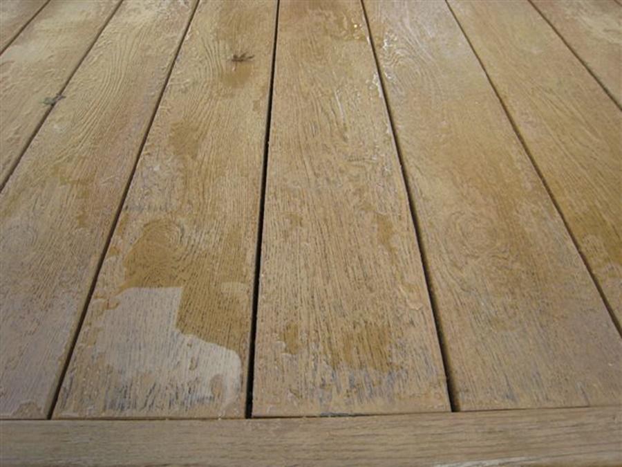 niezadaszony taras z drewna liściastego: palony dąb
