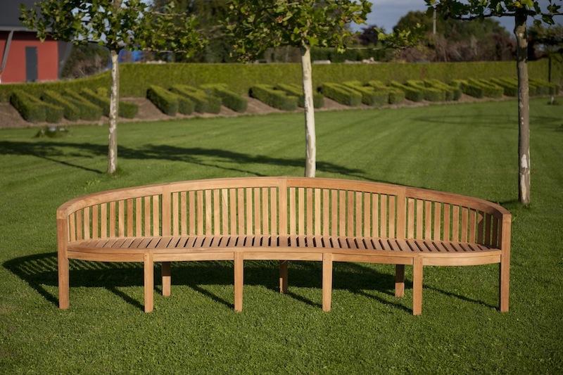 Duża ławka ogrodowa z drewna
