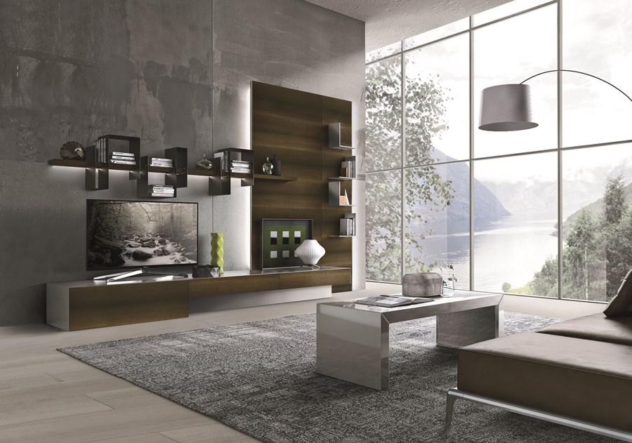 Nowoczesne półki w salonie