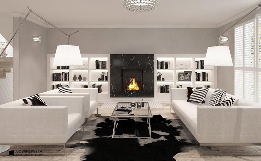 Luksusowe meble w salonie