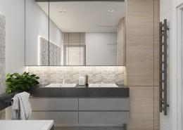 Kamień w nowoczesnej łazience A2 studio