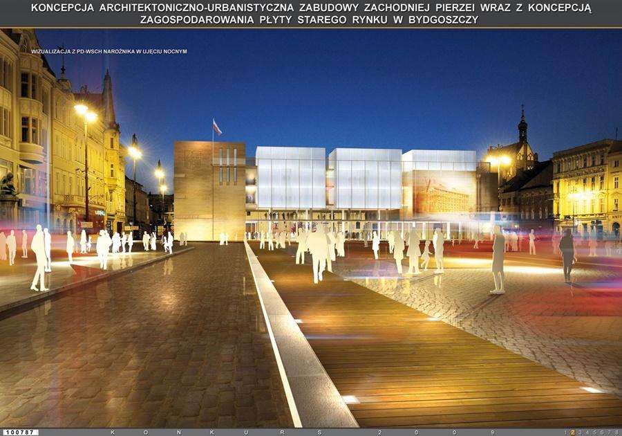 Projekt rynku staromiejskiego w Bydgoszczy