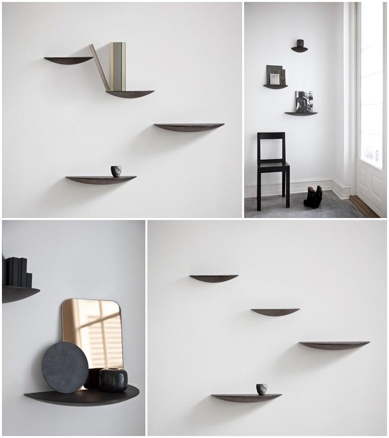 Nowoczesne półki w stylu skandynawskim
