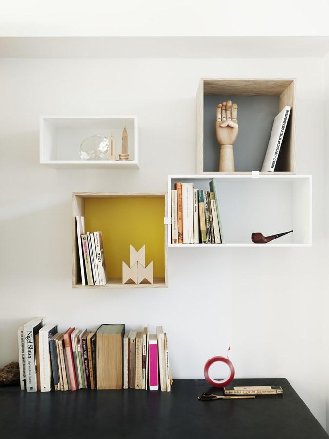 Nowoczesne półki w stylowym wnętrzu