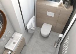 Projekt małej toalety A2
