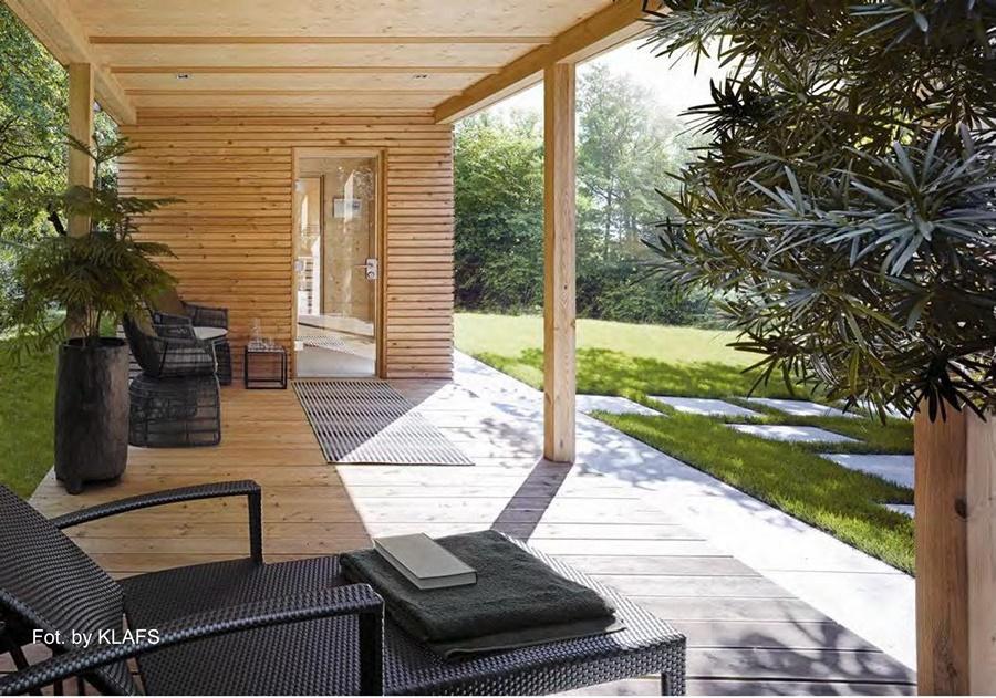 Innowacyjna sauna zewnętrzna - Klafs