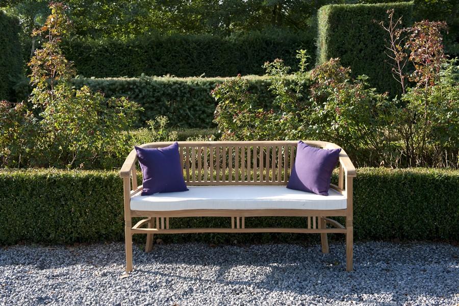Trzyosobowa ławka ogrodowa - drewniana ławka