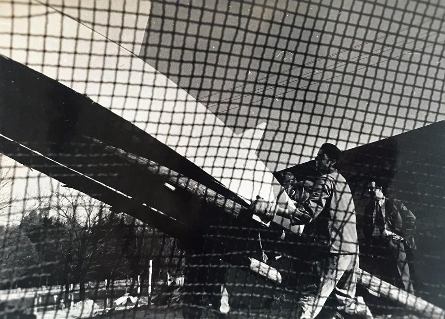 łódź profesora Modzelewskiego w trakcie budowy