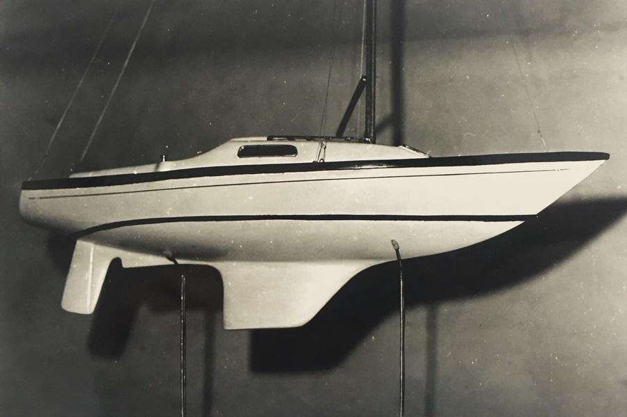 model jachtu Romana Modzelewskiego