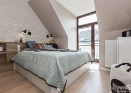 Biała cegła w sypialni Mango Studio