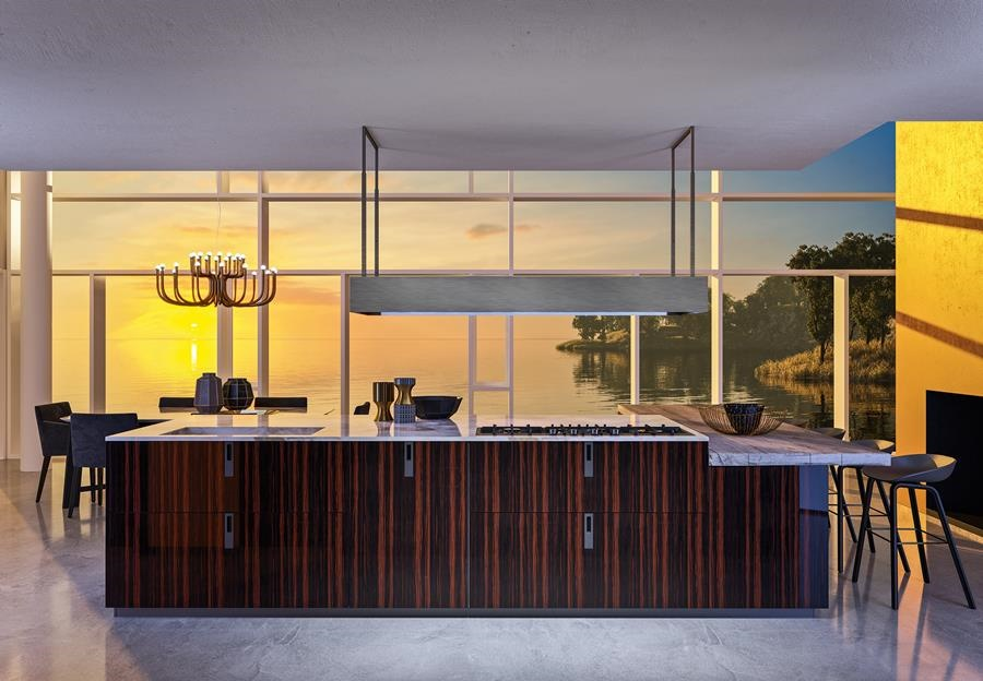 Nowoczesna wyspa w kuchni