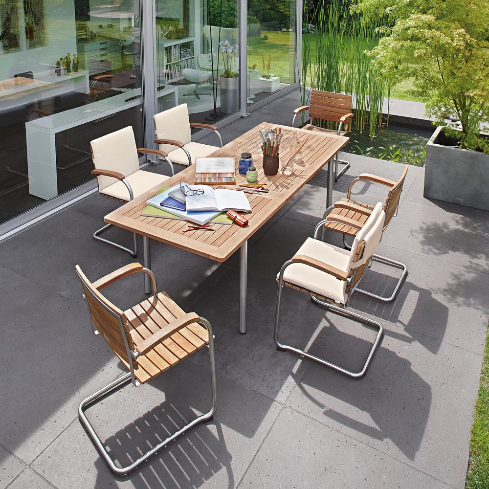 Krzesło ogrodowe Bolero Teak Garpa 1 nowoczesny ogród