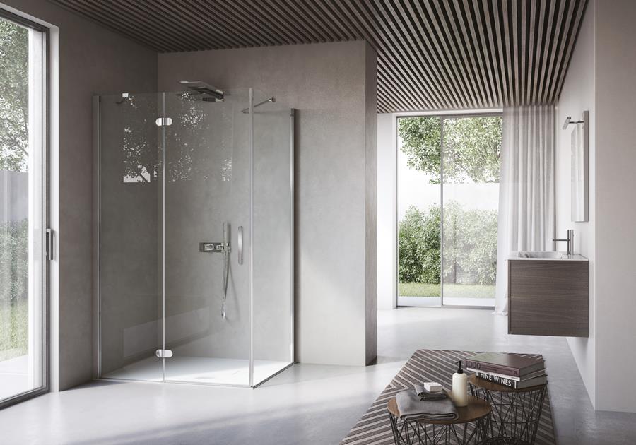 Stylowe nowoczesne prysznice