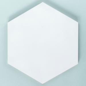 Panel ścienny ze sklejki hexagon 10 mm biały Nuki