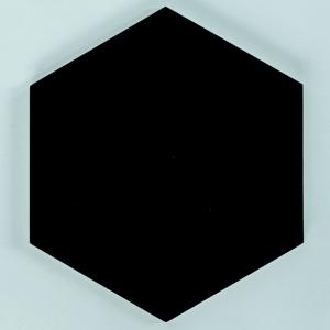 Panel ścienny ze sklejki hexagon 10 mm czarny nuki