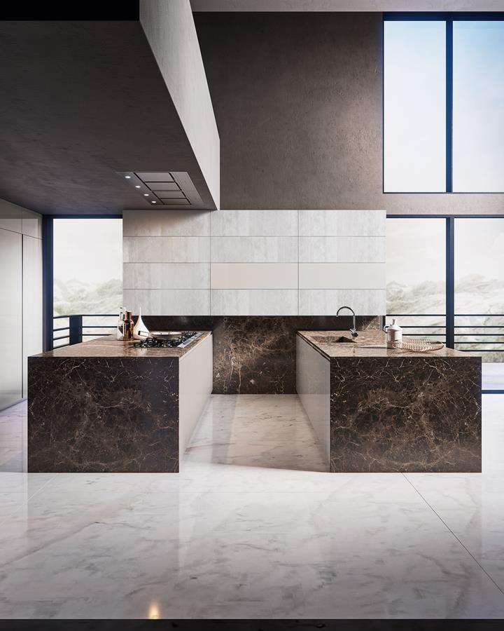 Kamienna wyspa w kuchni