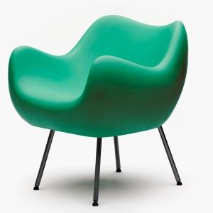 fotel RM 58, turkusowy, mat. Projekt: Roman Modzelewski; producent: Vzór