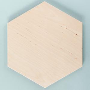 Panel ścienny ze sklejki hexagon 6 mm natural Nuki
