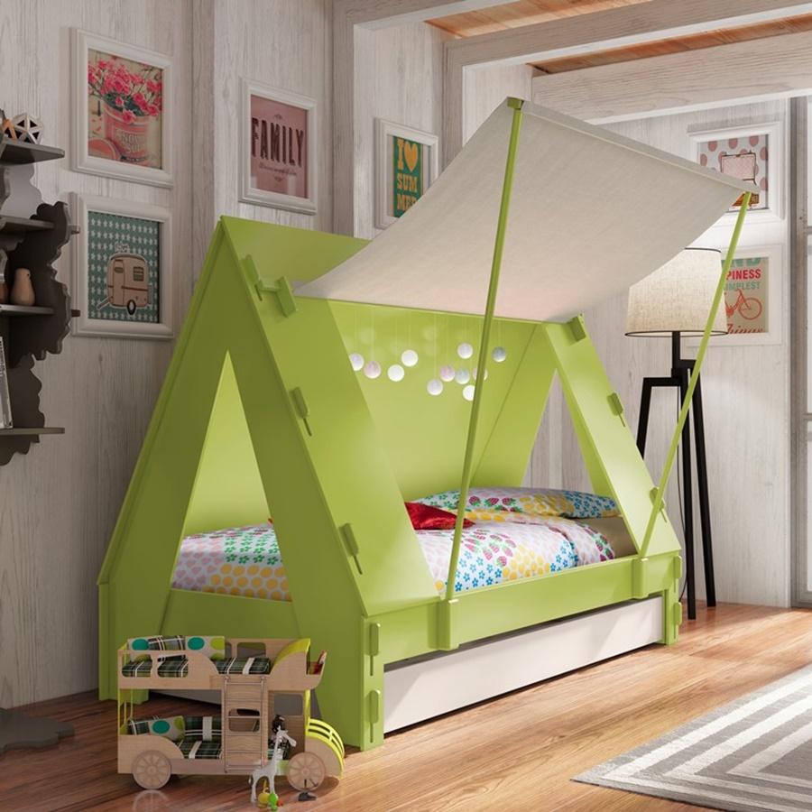 Łóżko dla dziecka w kształcie namiotu