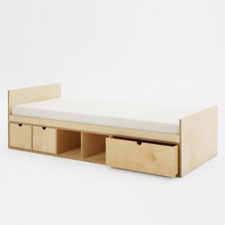 Łóżko ze sklejki Fam Fara KB 160