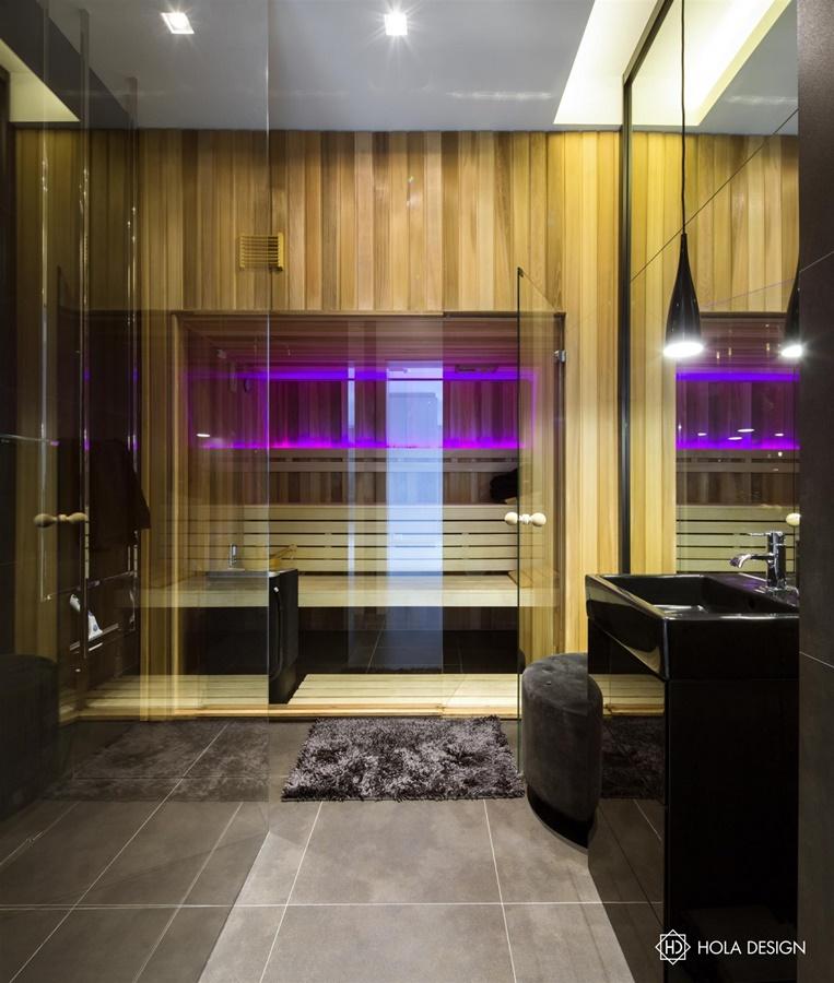 Projekt wnętrz sauny