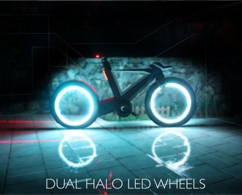 Cyklotron LED nowoczesny rower